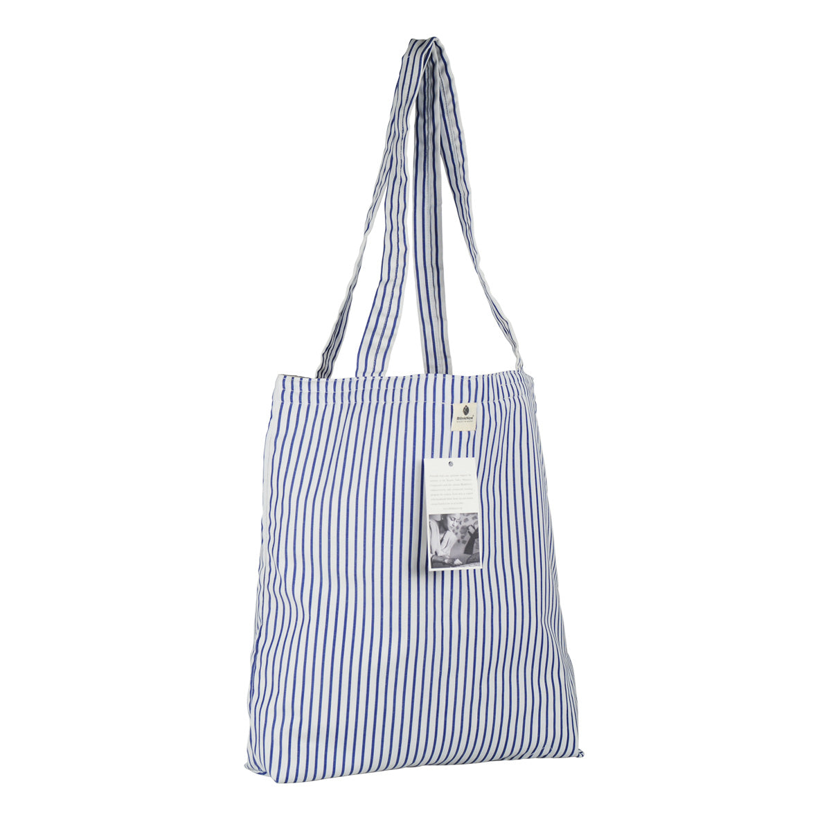 Kopila Valley Women's Cooperative Striped Cotton Tote Bag