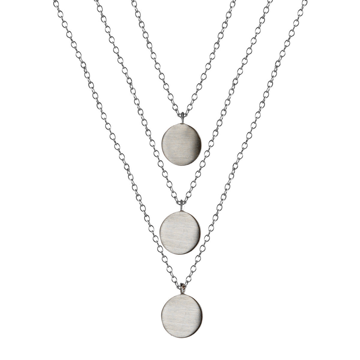 Sterling Silver Triple Moroccan Disc Chain