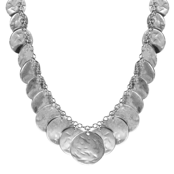 Sterling Silver All Sequin Necklace