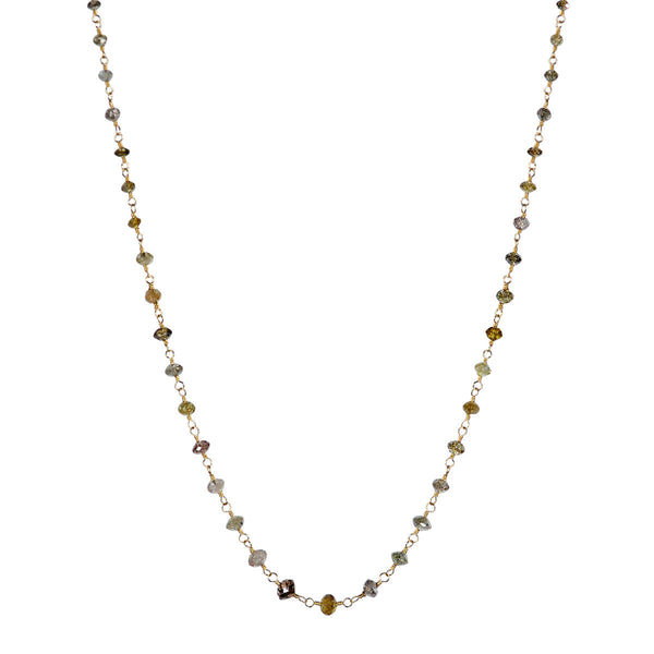 18K Gold Multi Colored Diamond Chain