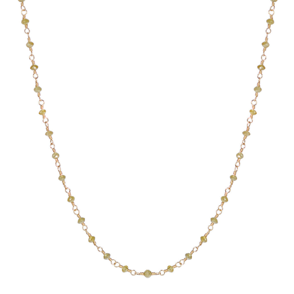 18K Gold Fine Yellow Diamond Chain