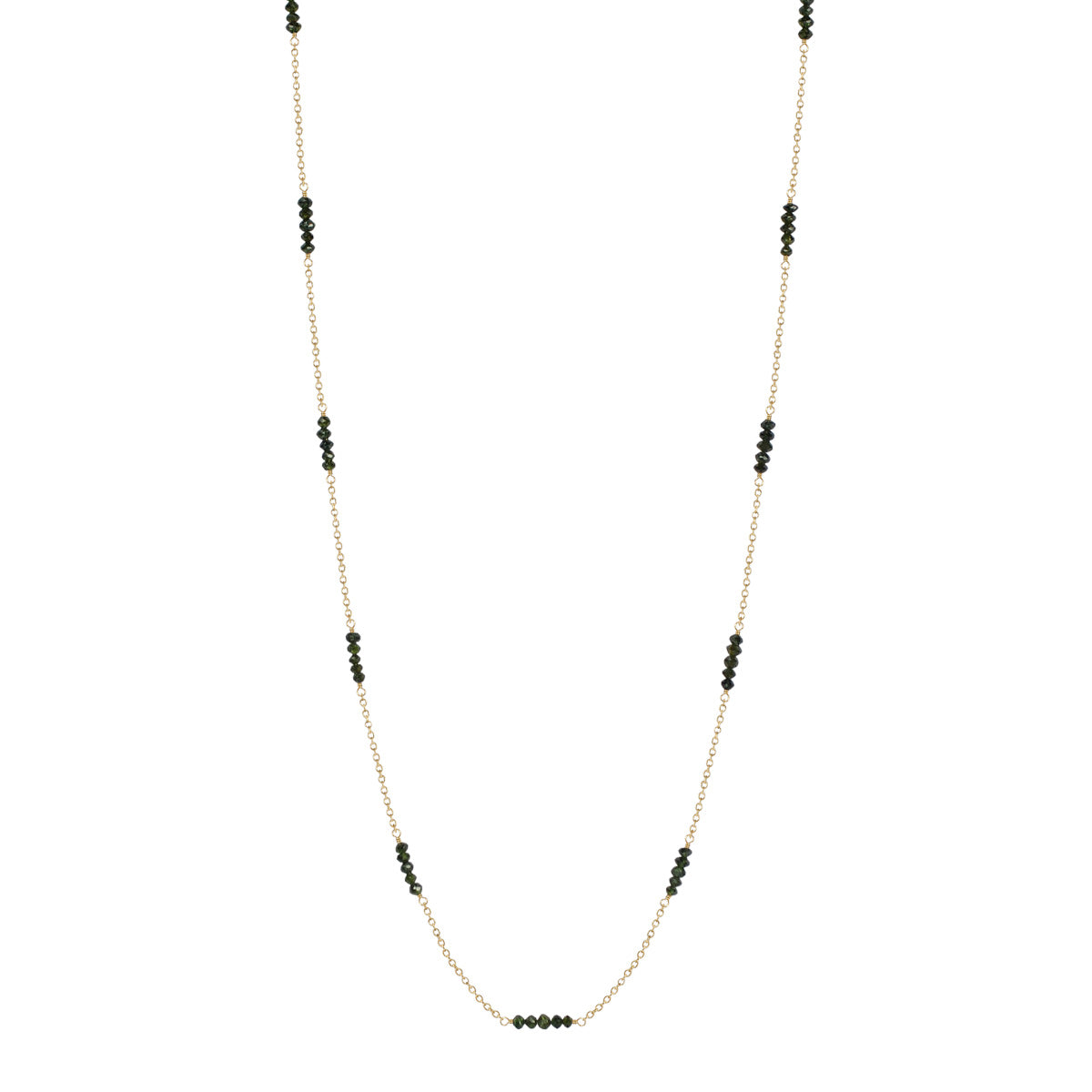 18K Gold Green Diamond Necklace