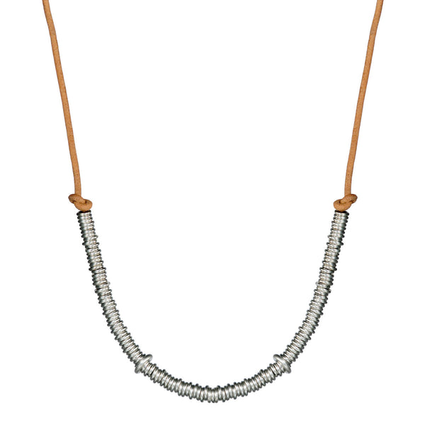Men's Sterling Silver Half Jumpring Necklace