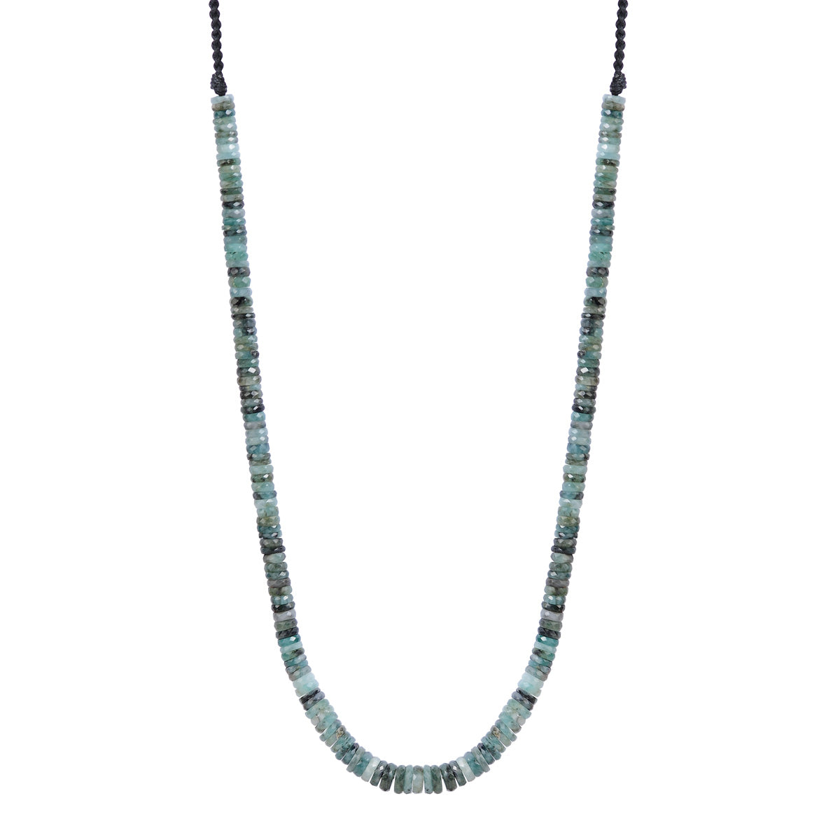 18K Gold Emerald Tyre Necklace
