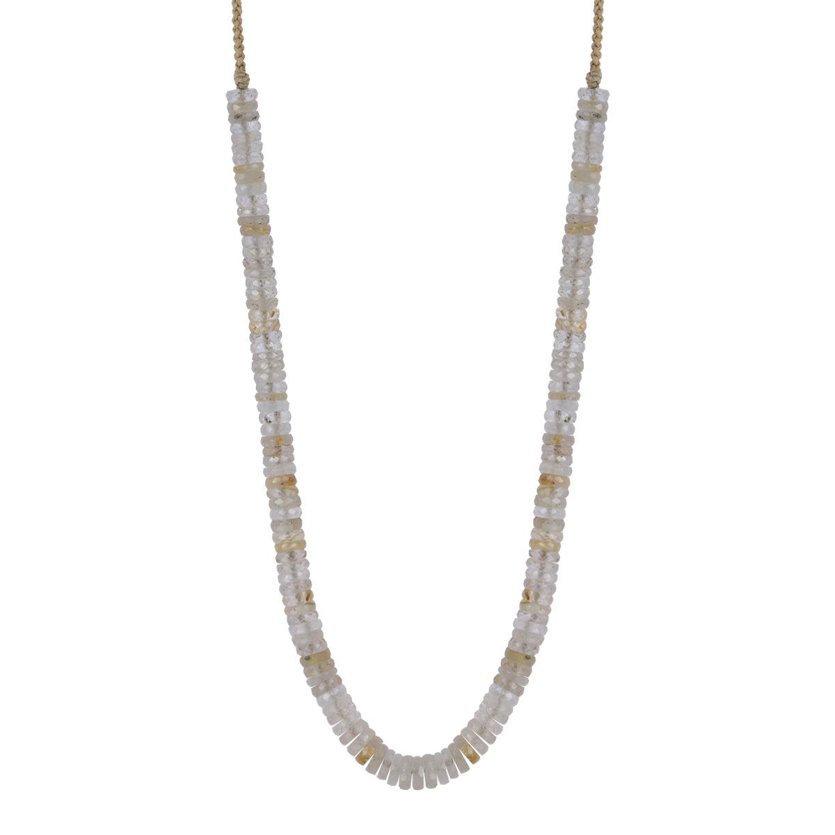 18K Gold Rutilated Quartz Tyre Necklace
