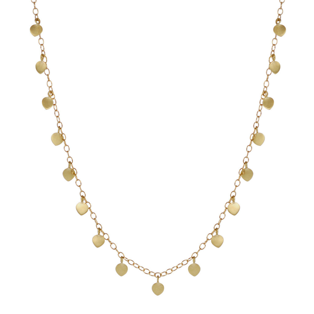 18K Gold Single Lotus Necklace