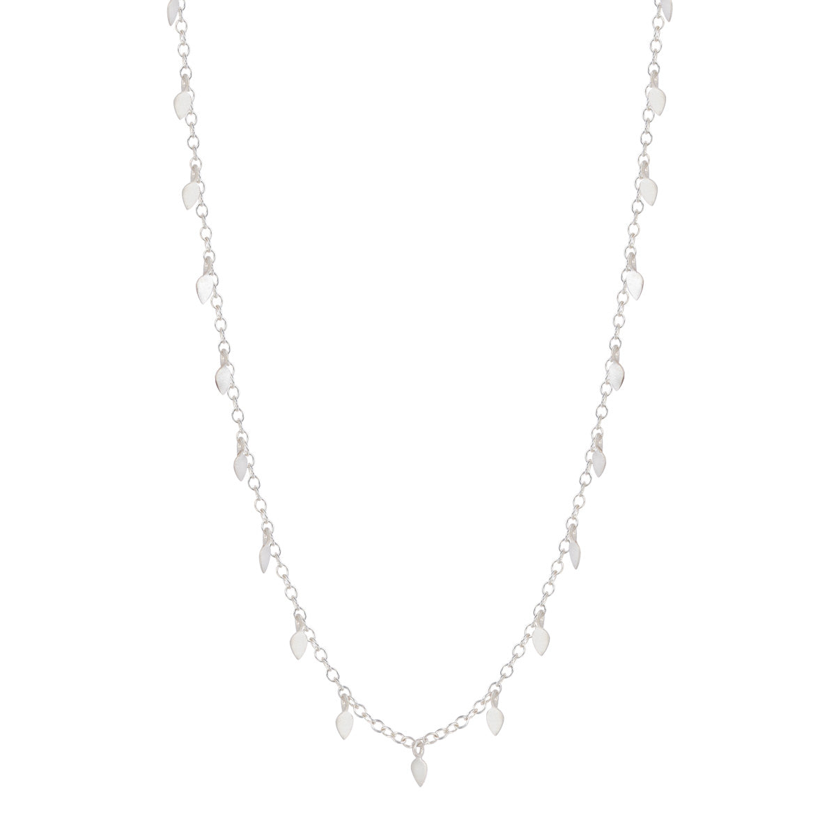 Sterling Silver Tiny Petal Chain