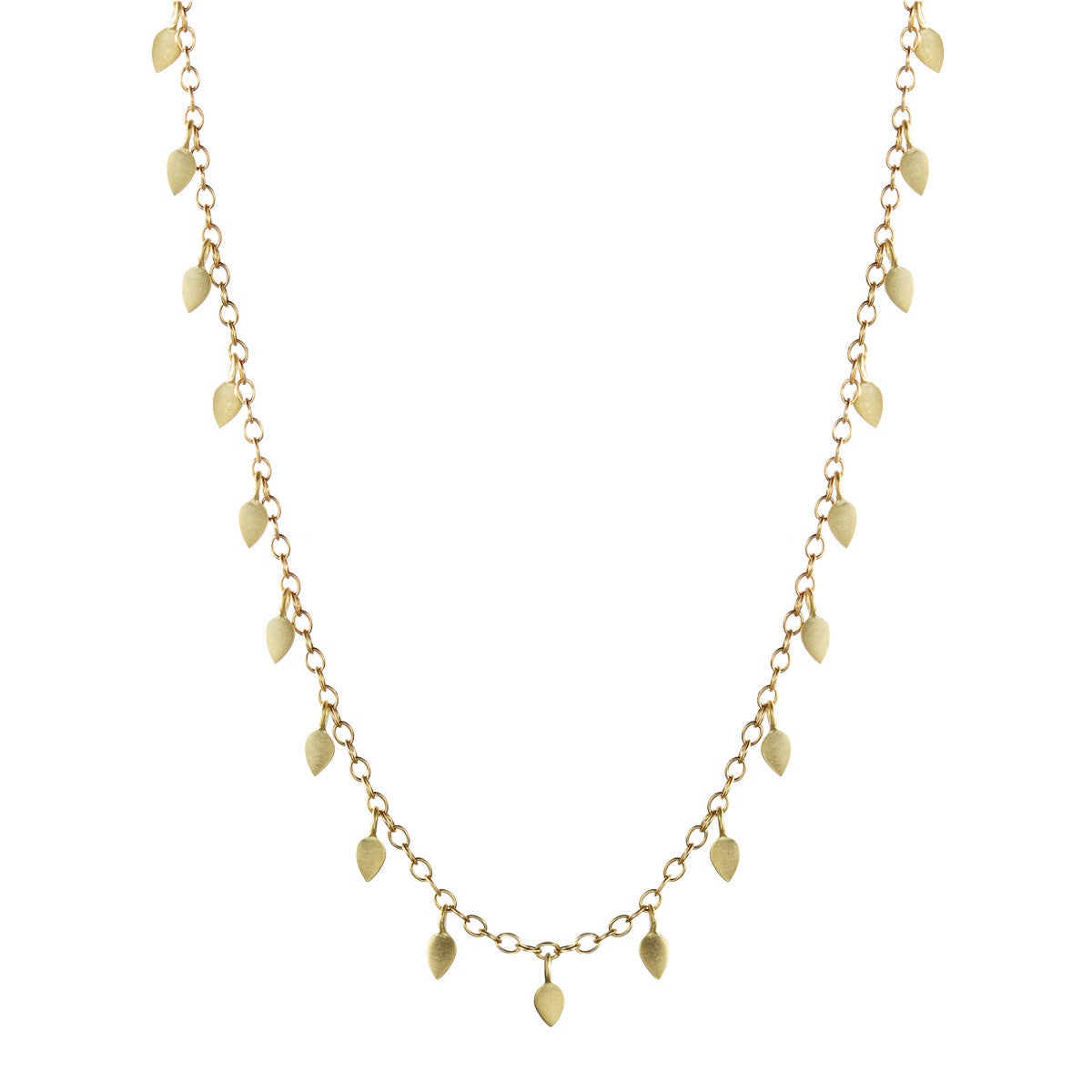 18K Gold One Tier Tiny Petal Chain
