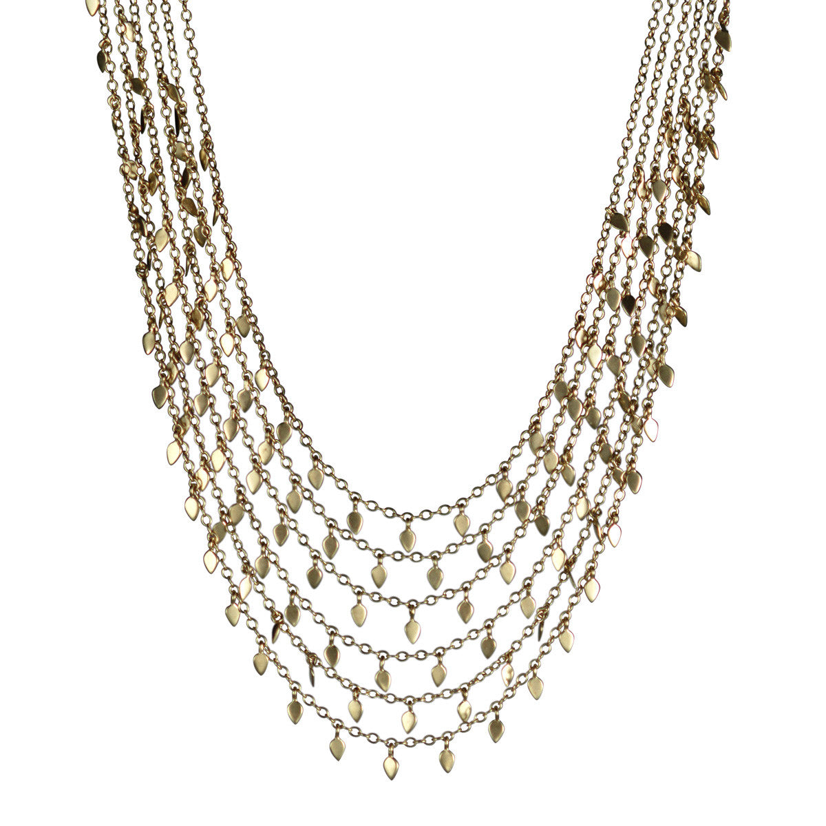 18K Gold Six Tier Petal Chain