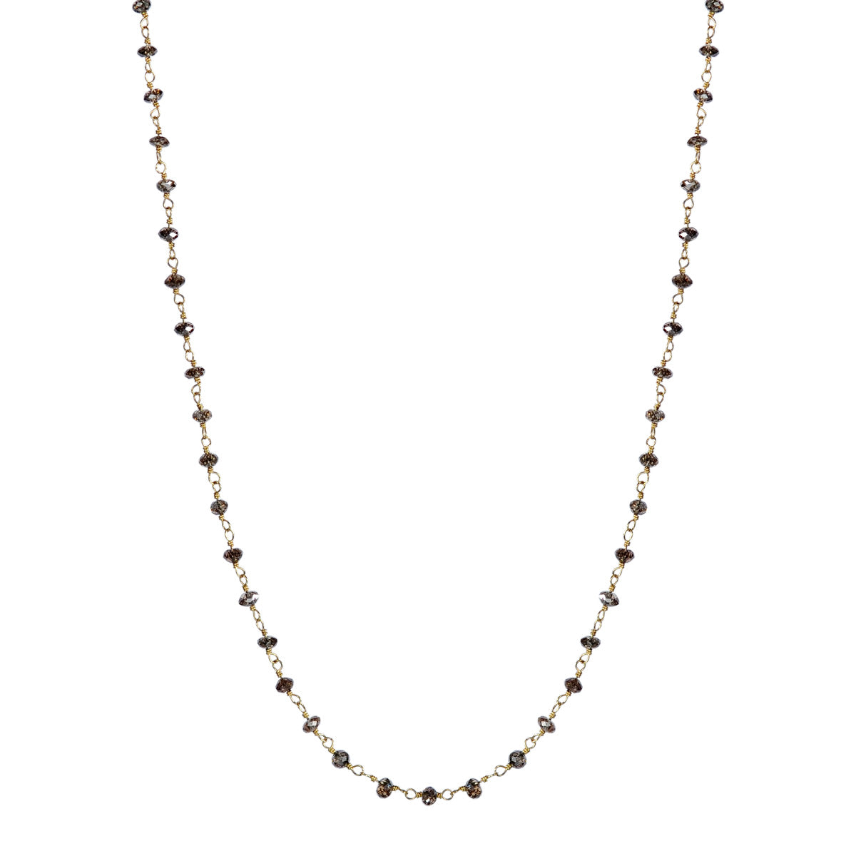 18K Gold Fine Brown Diamond Chain