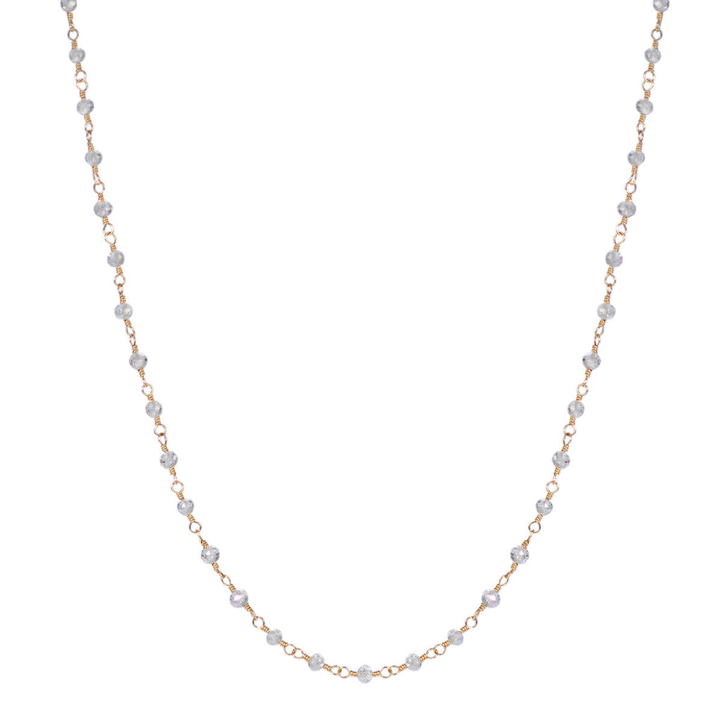 18K Gold White Diamond Chain