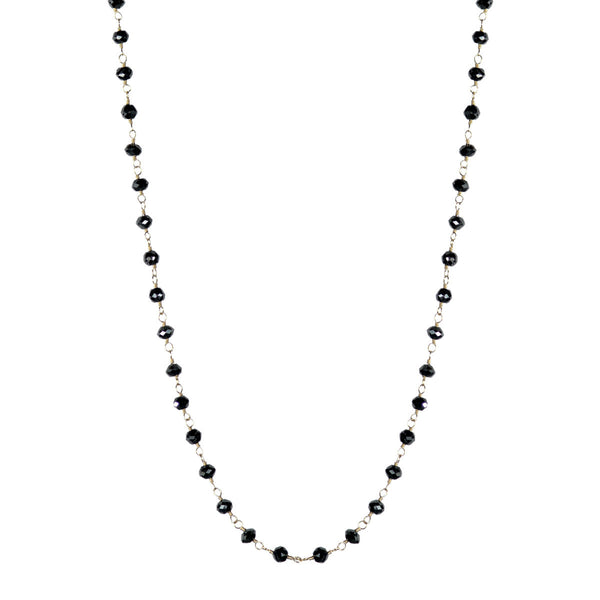 18K Gold Fine Black Diamond Chain