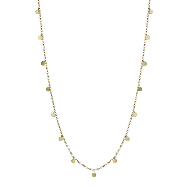 18K Gold Tiny Disc Necklace