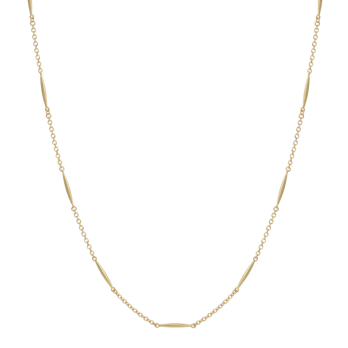 18K Gold Large All Gold Lure Necklace