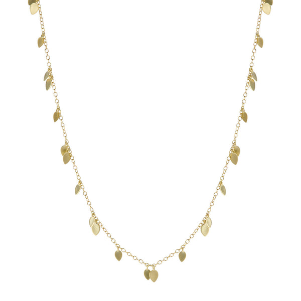 18K Gold Mixed Lotus Petal Necklace