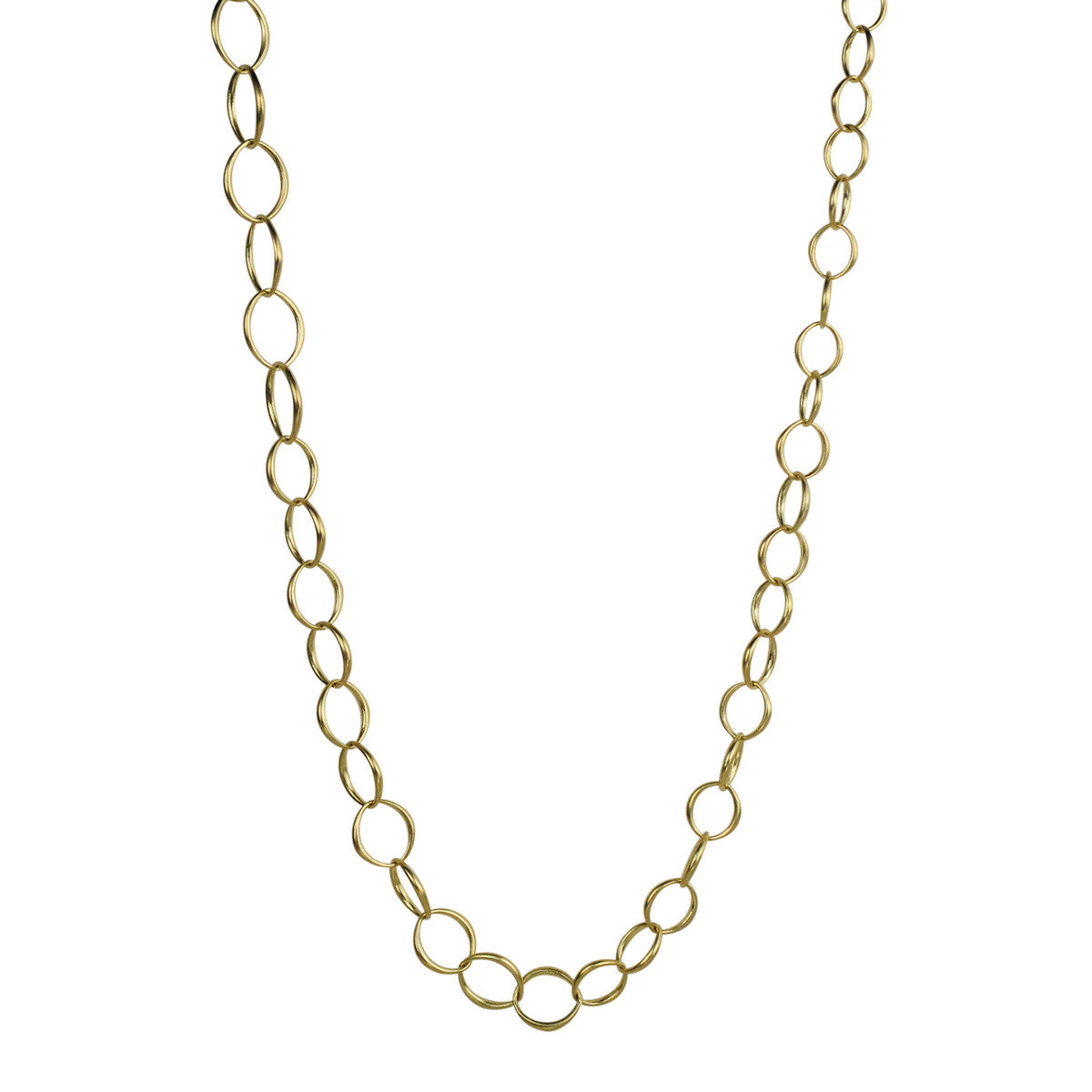18K Gold Graduated O' Chain