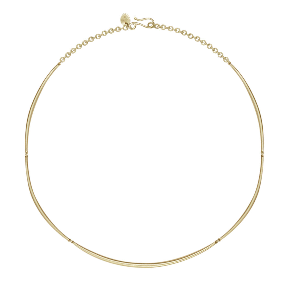 18K Gold Full Tibetan Bar Necklace