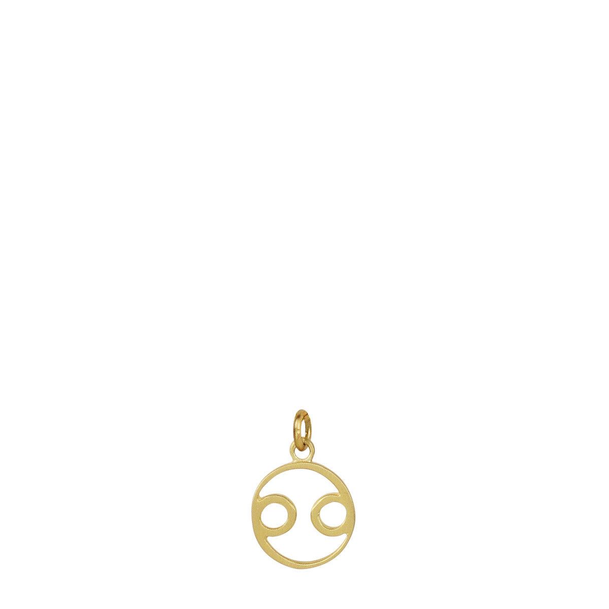 18K Gold Cancer Symbol Charm