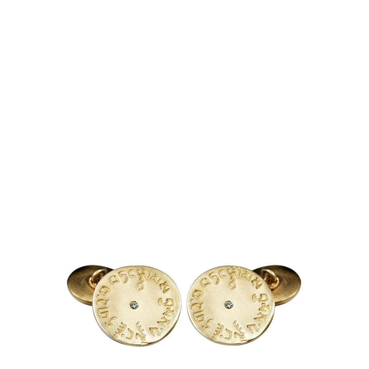 Men's 10K Gold 4 Immeasurables Cufflinks with Diamonds