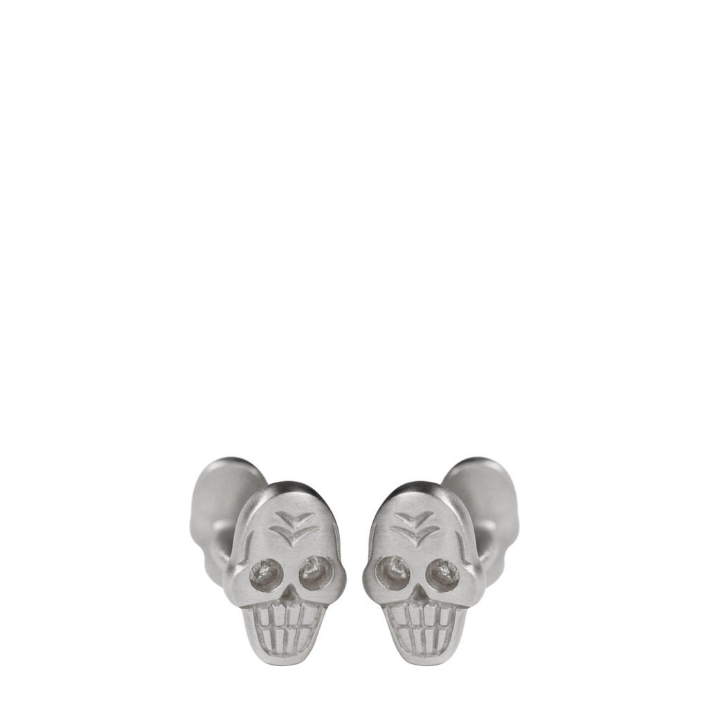 Men's Sterling Silver Skull Cufflinks
