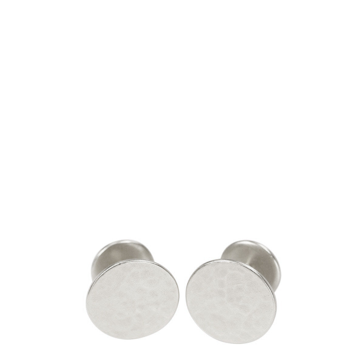 Men's Sterling Silver Hammered Cufflinks