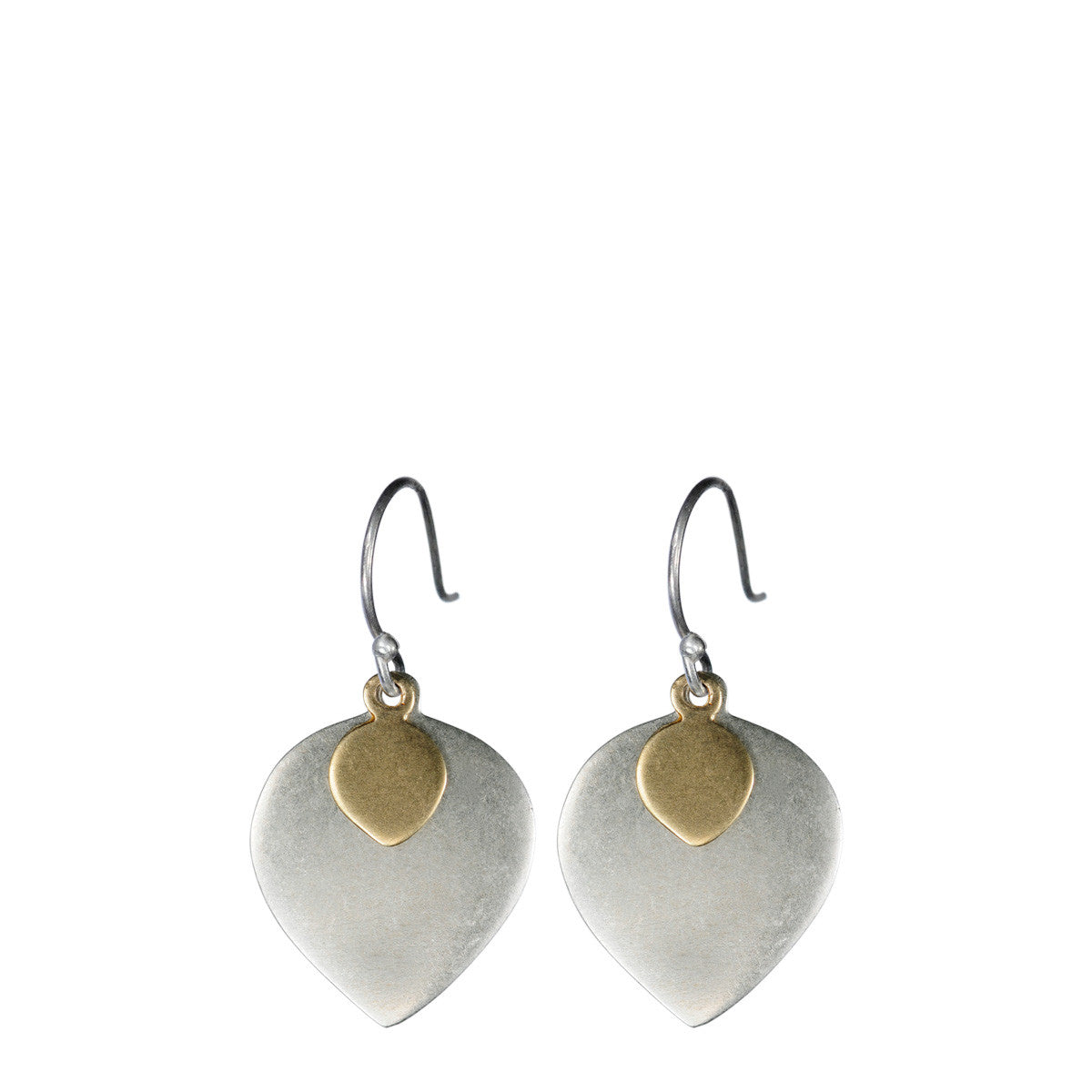 Sterling Silver & 10K Gold Lotus Petal Earrings