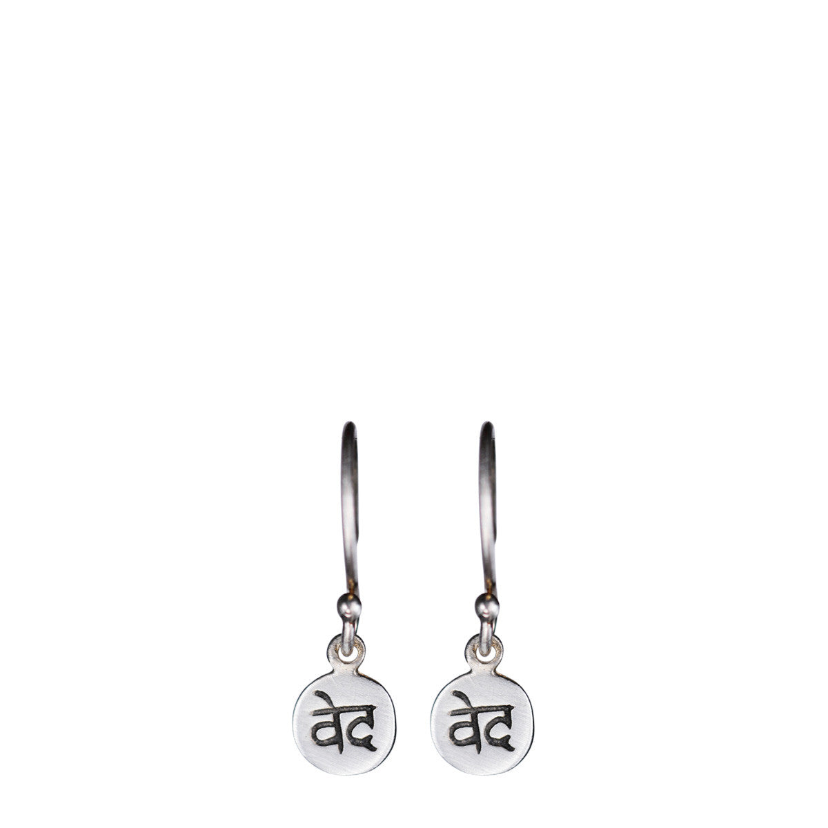 Sterling Silver 'Wisdom' Disc Earring