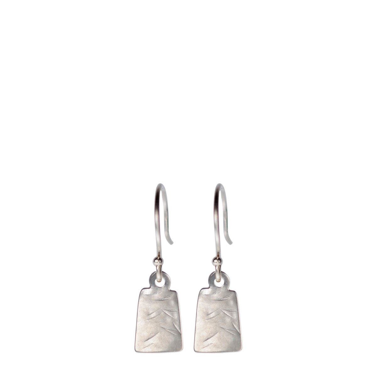 Sterling Silver Flattened Square Earrings