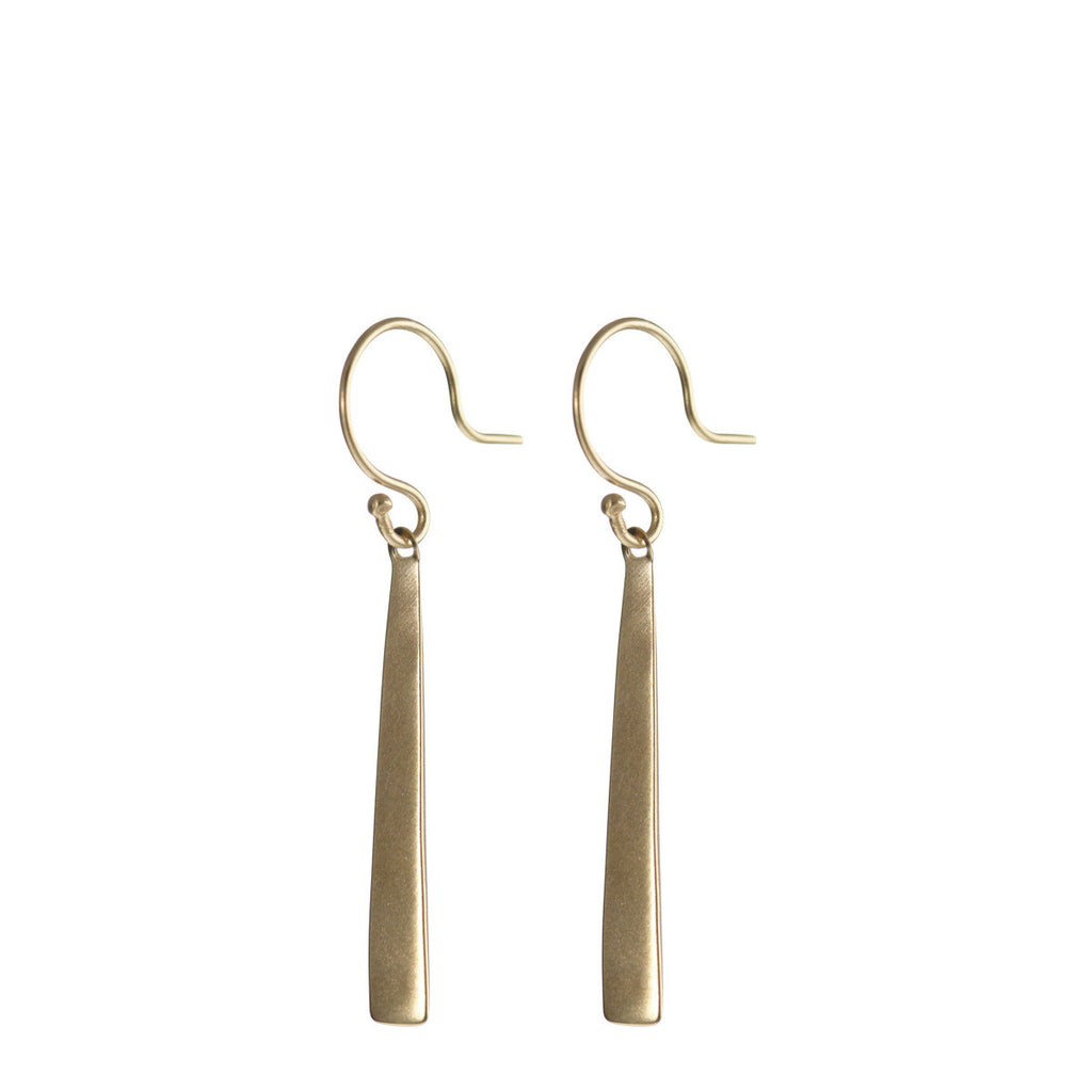 10K Gold Short Flattened Earring