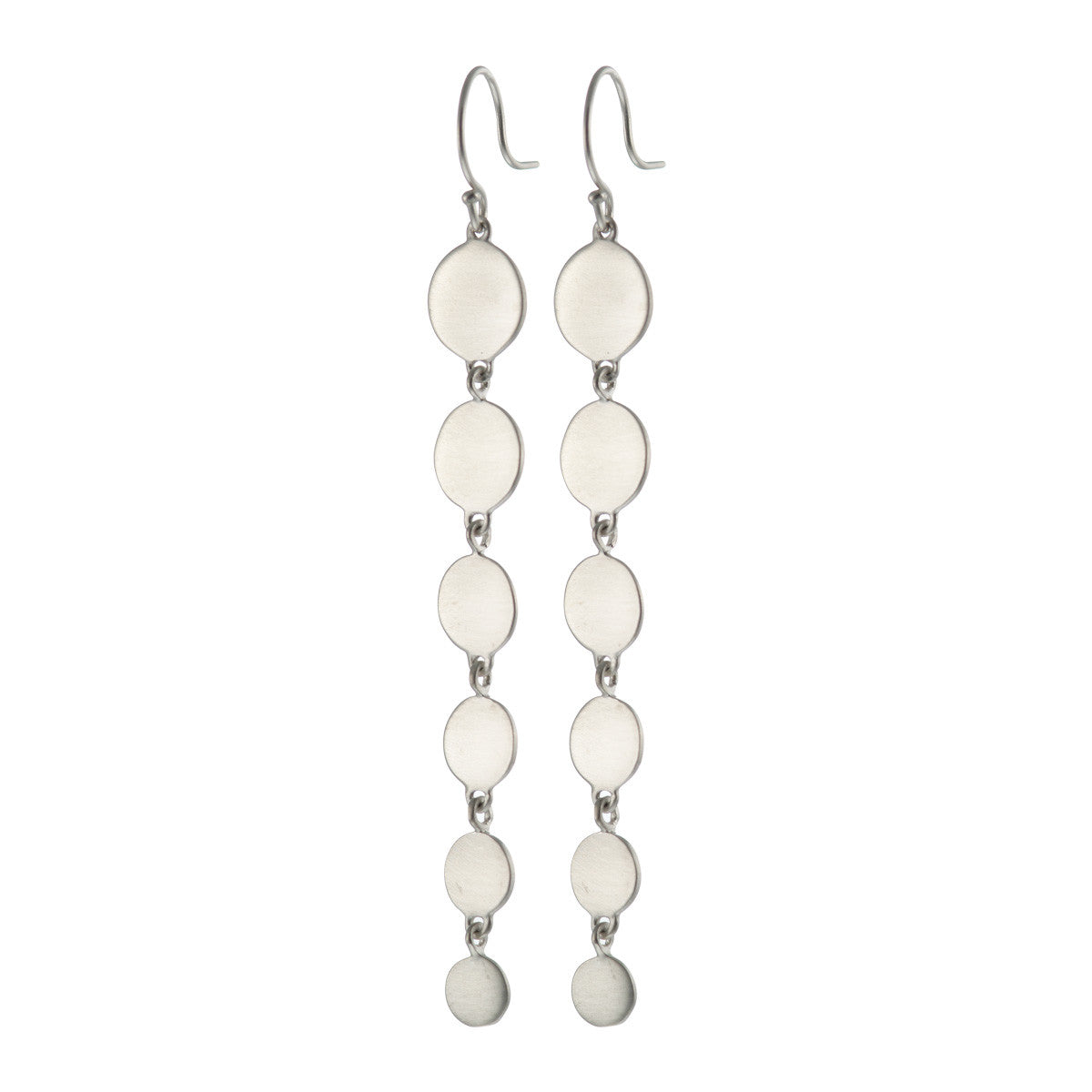 Sterling Silver Graduated Disc Earring