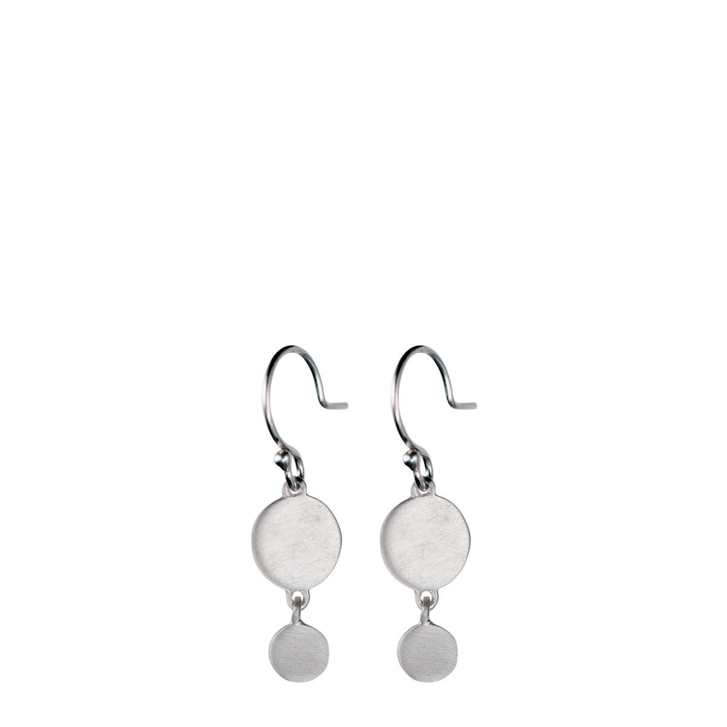 Sterling Silver Simple Disc Drop Earring