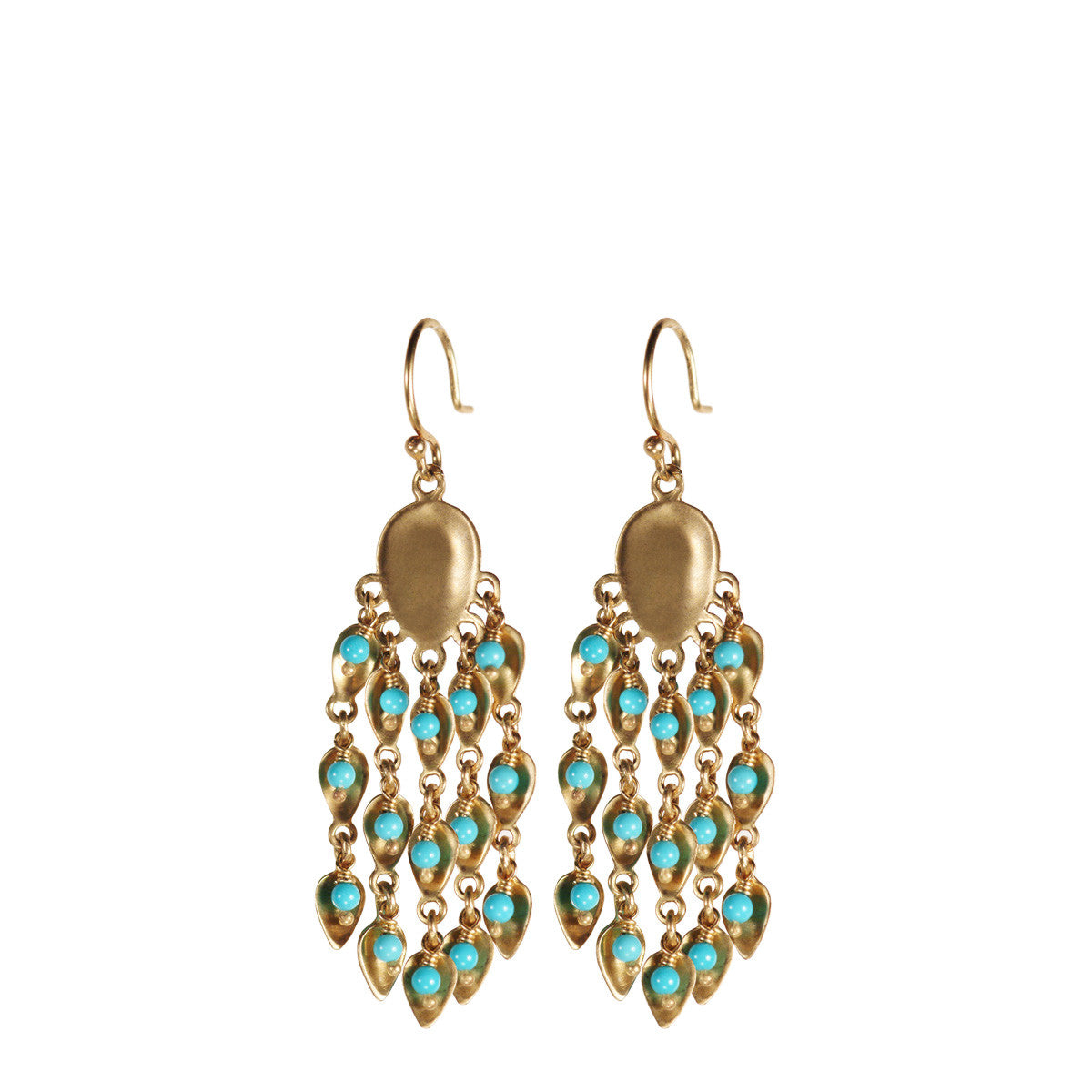 10K Gold Large Long Bindhi Earring