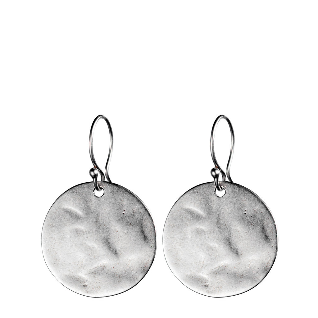 Sterling Silver Large Sequin Earring