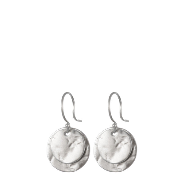 Sterling Silver Double Sequin Earring