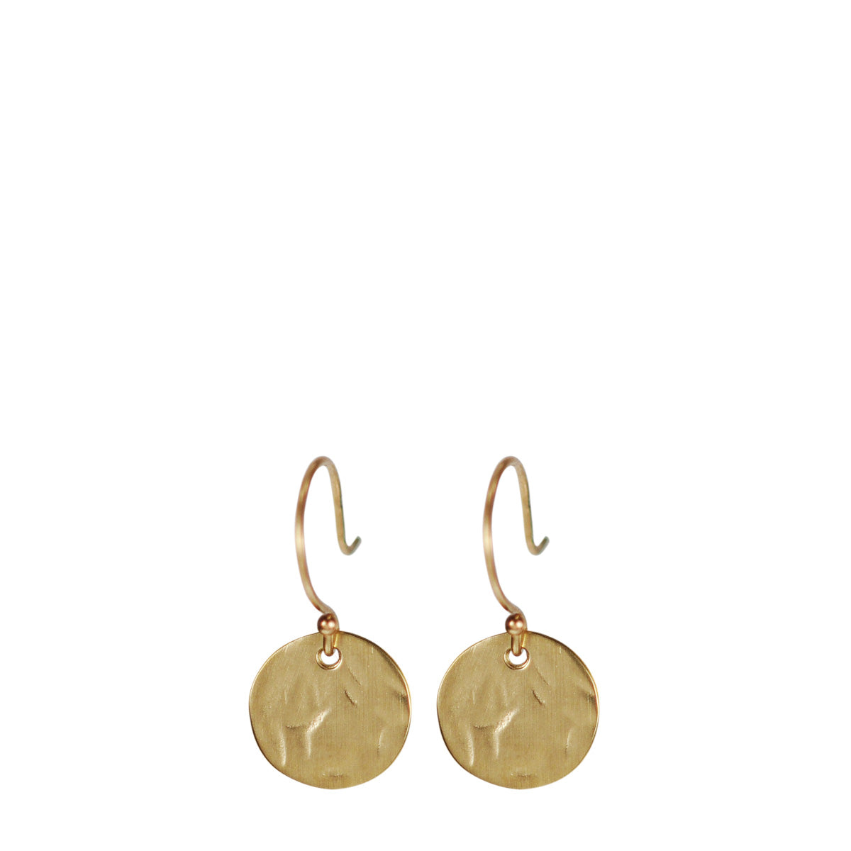 10K Gold Sequin Earrings