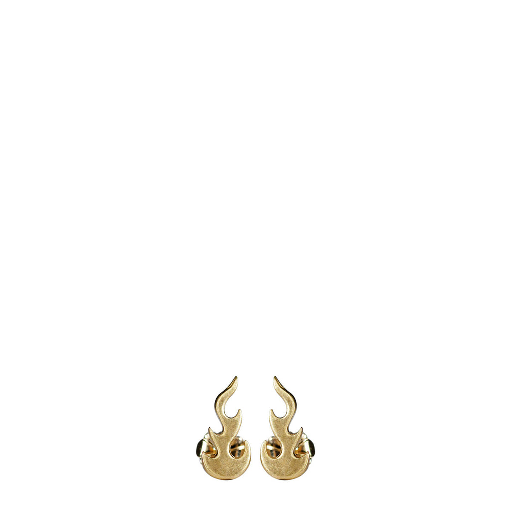 10K Gold Medium Flame Stud Earrings