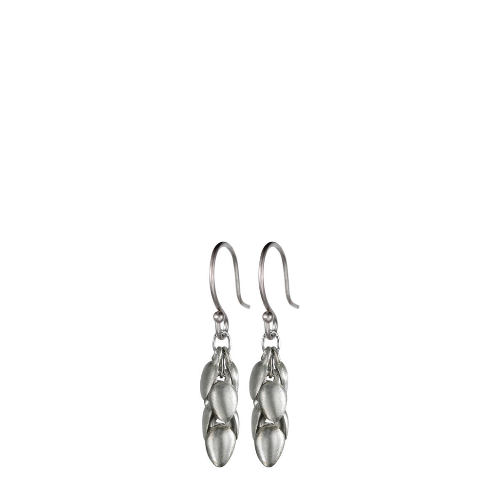 Sterling Silver Short Acorn Pod Earrings