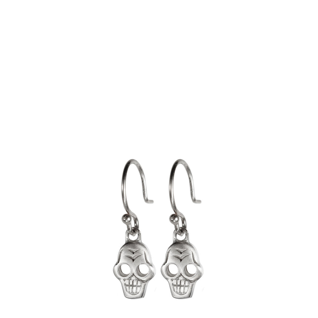Sterling Silver Tiny Skull Earring