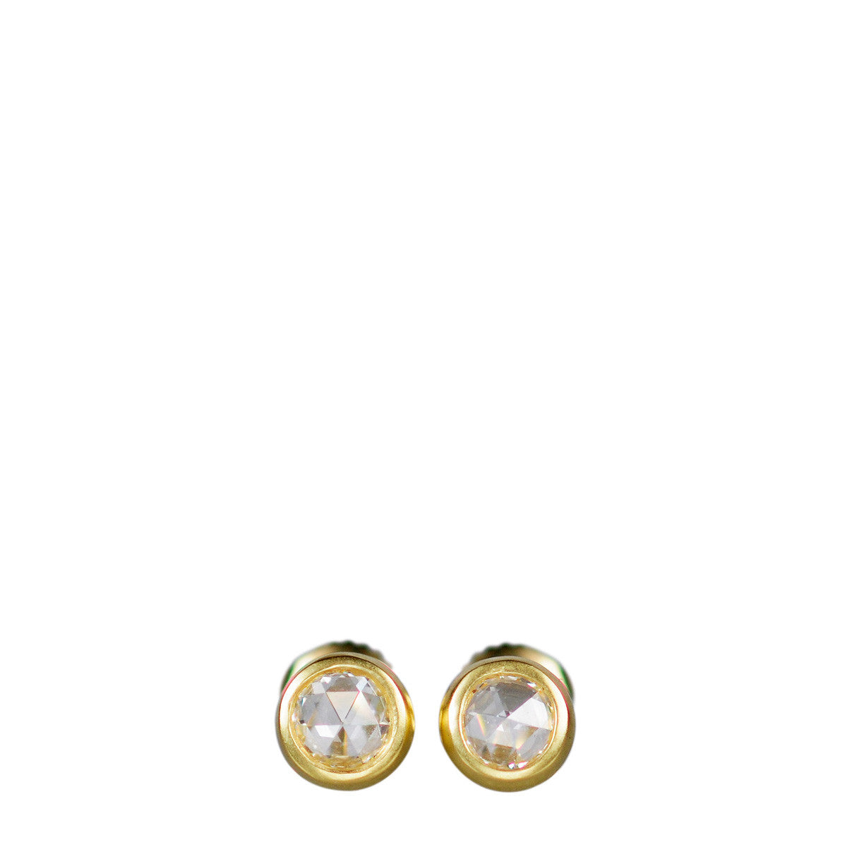 18K Gold 4.5mm Rose Cut Studs