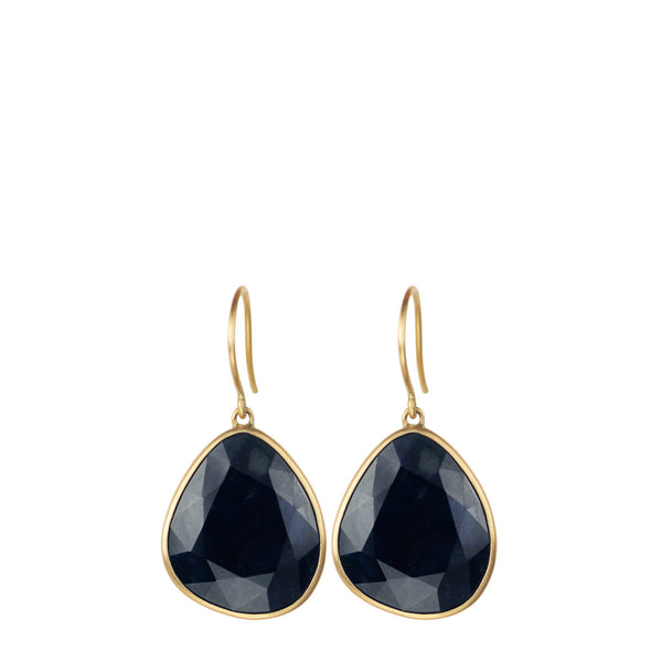 18K Gold Sapphire Earrings