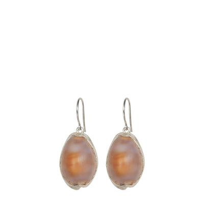 Silver Cowrie Shell Earrings