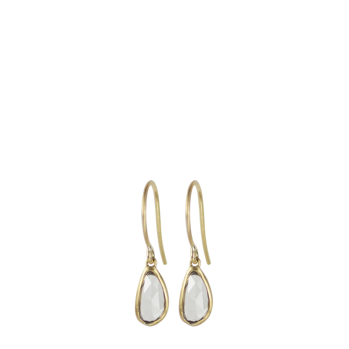 18K Gold Small Sapphire Drop Earrings