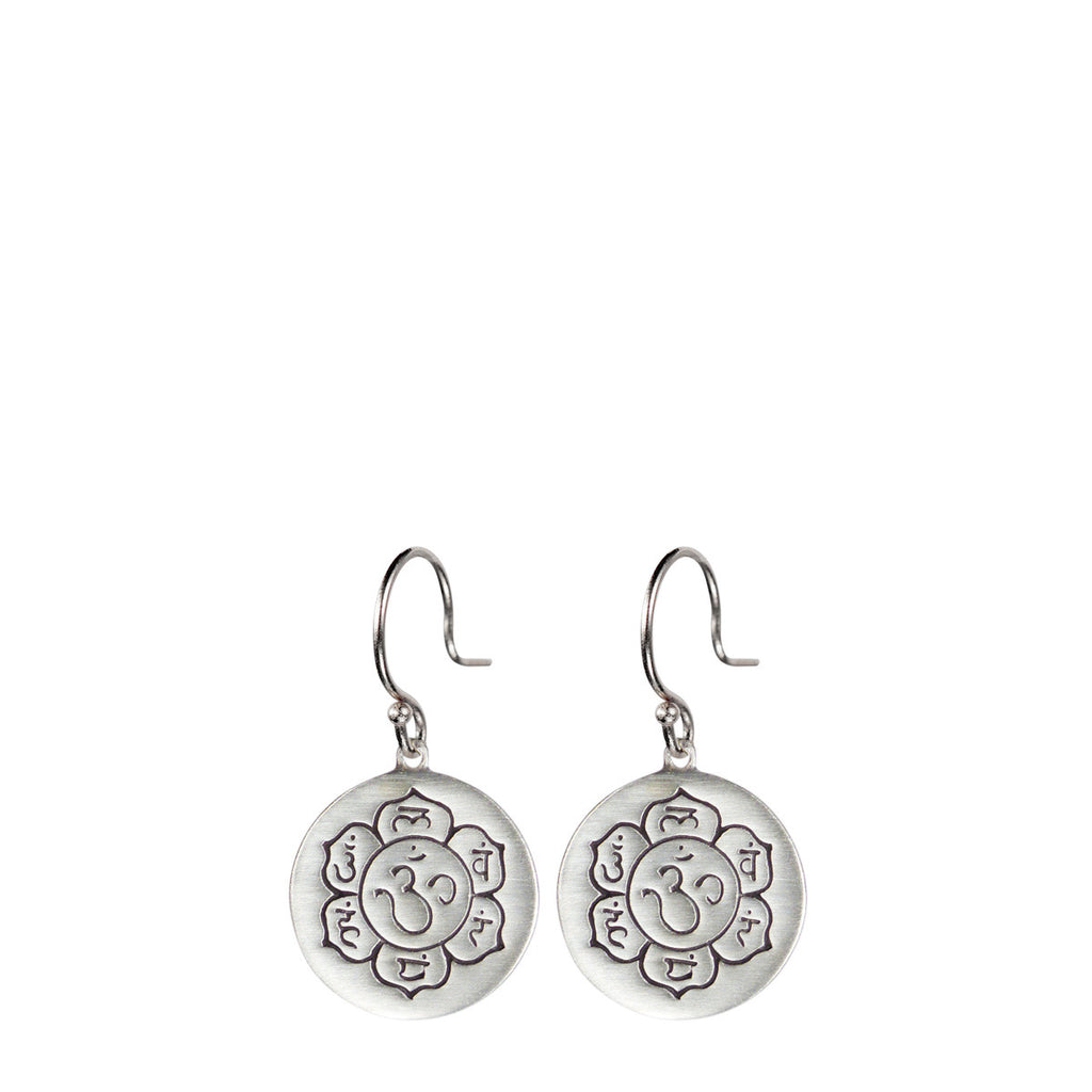 Sterling Silver Small Chakra Flower Earrings