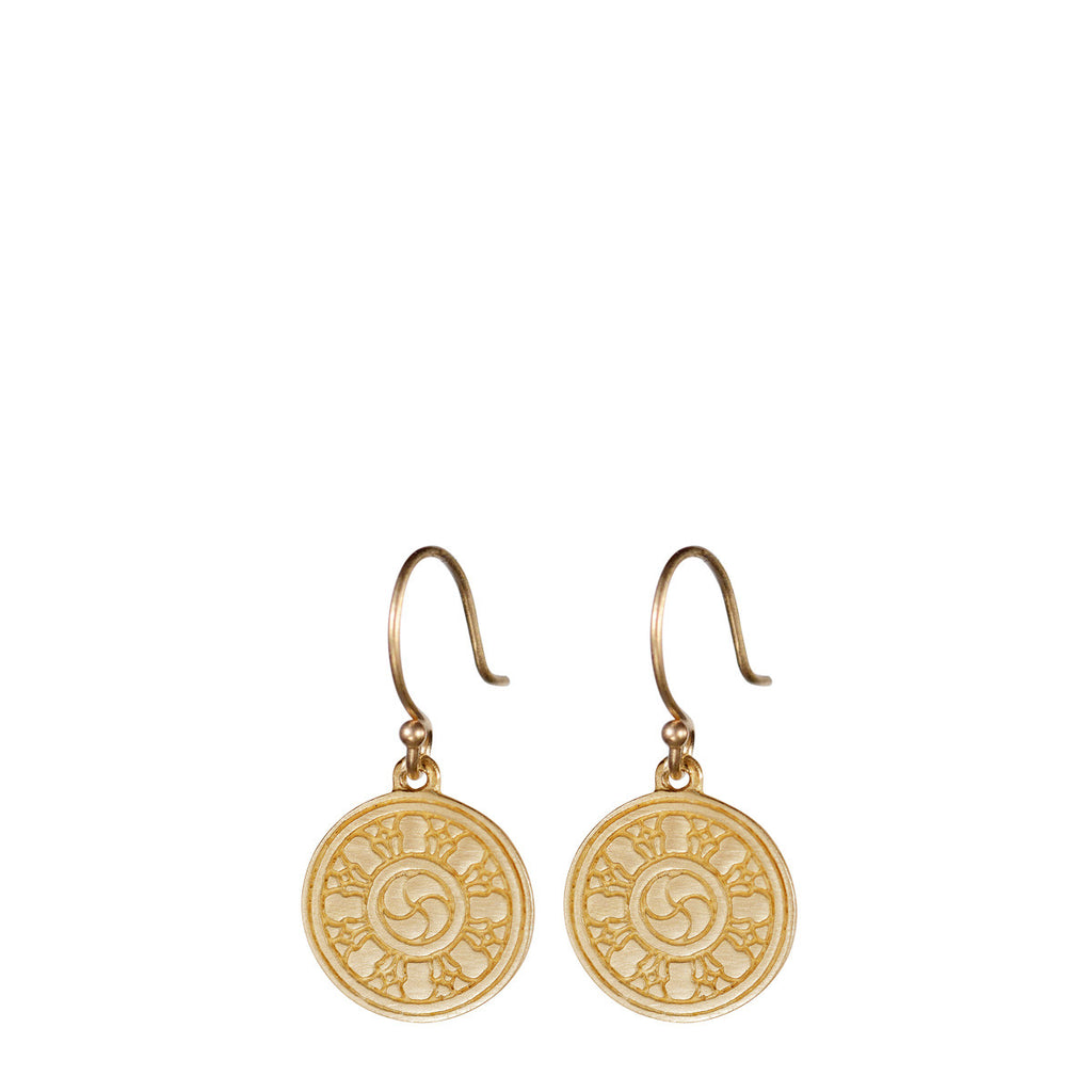 10K Gold Wheel of Transformation Earring