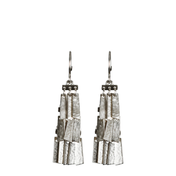 Sterling Silver Short Curtain Earrings