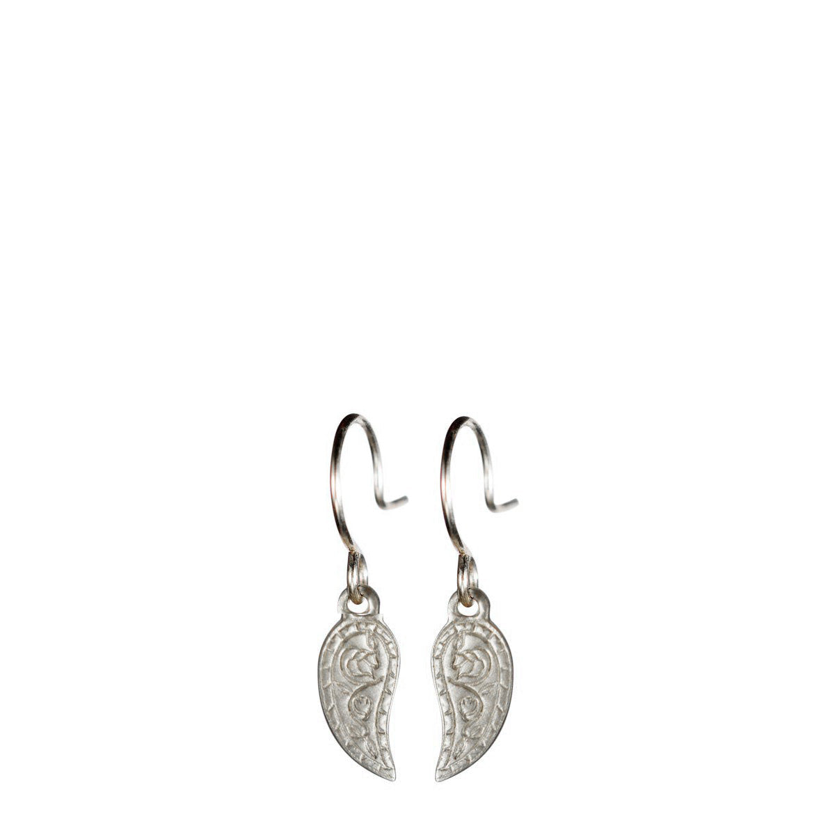 Sterling Silver Small Paisley Earrings