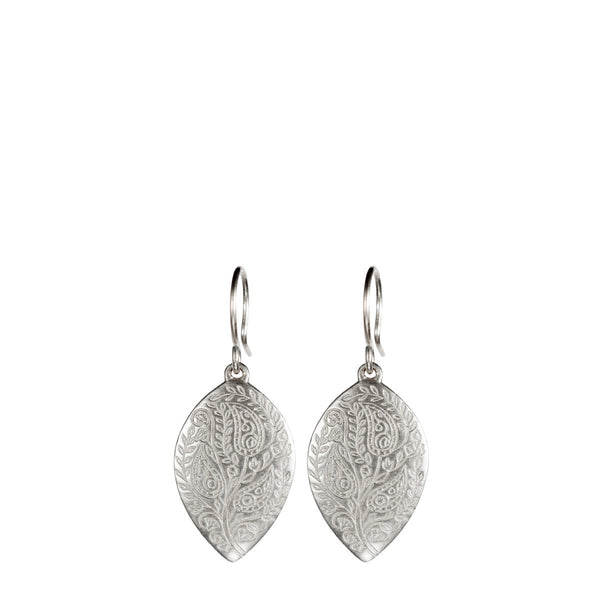 Sterling Silver Medium Paisley Earrings