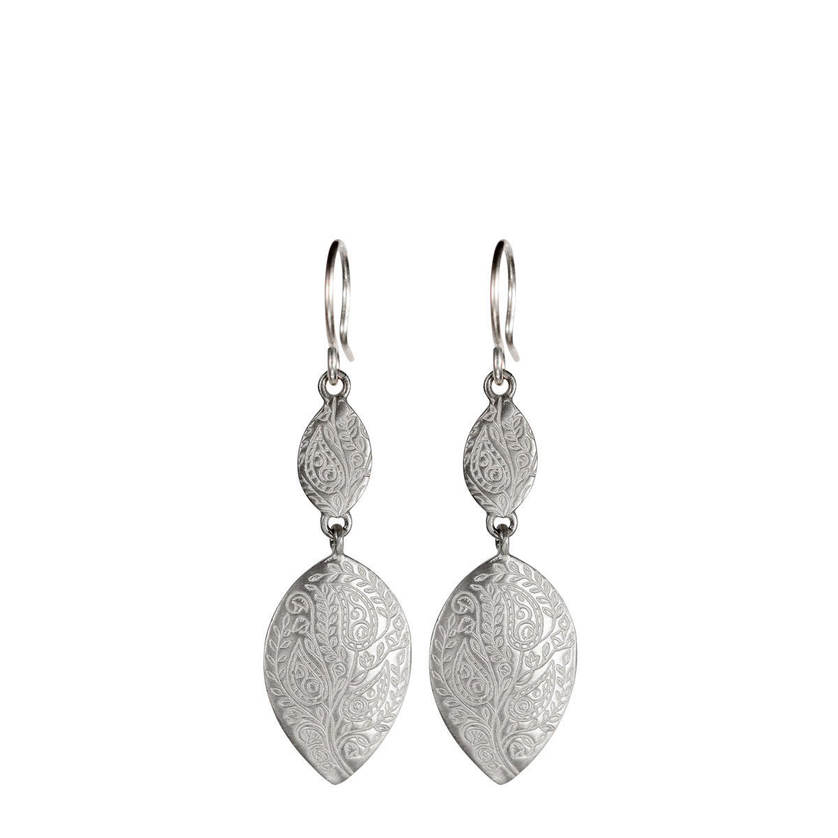 Sterling Silver Double Paisley Earrings