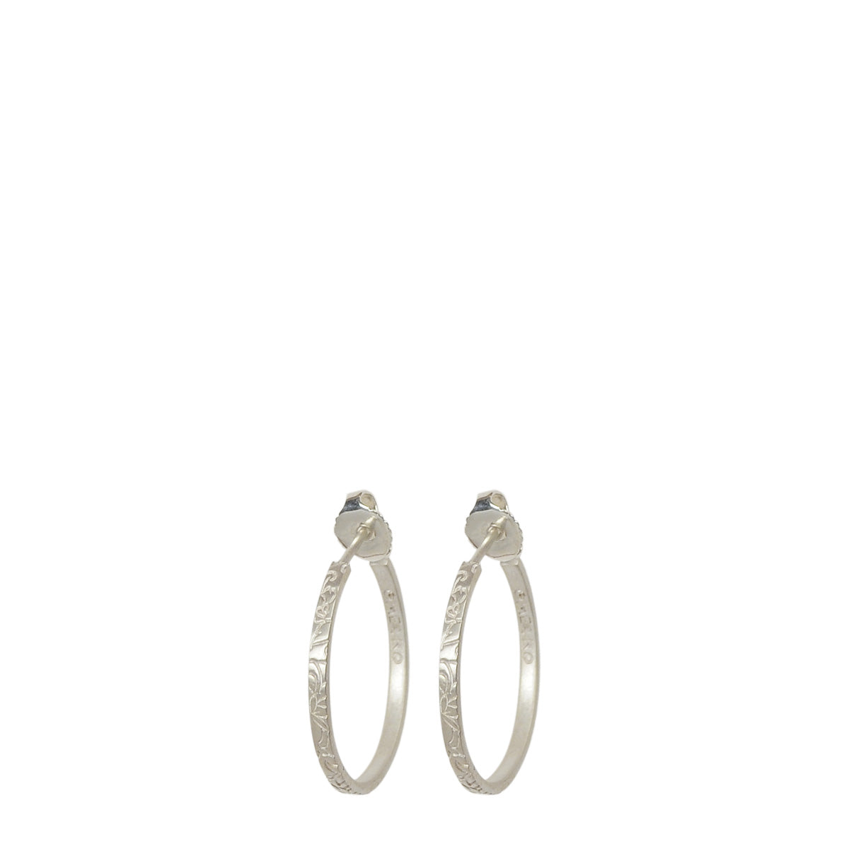 Sterling Silver Small Paisley Hoops