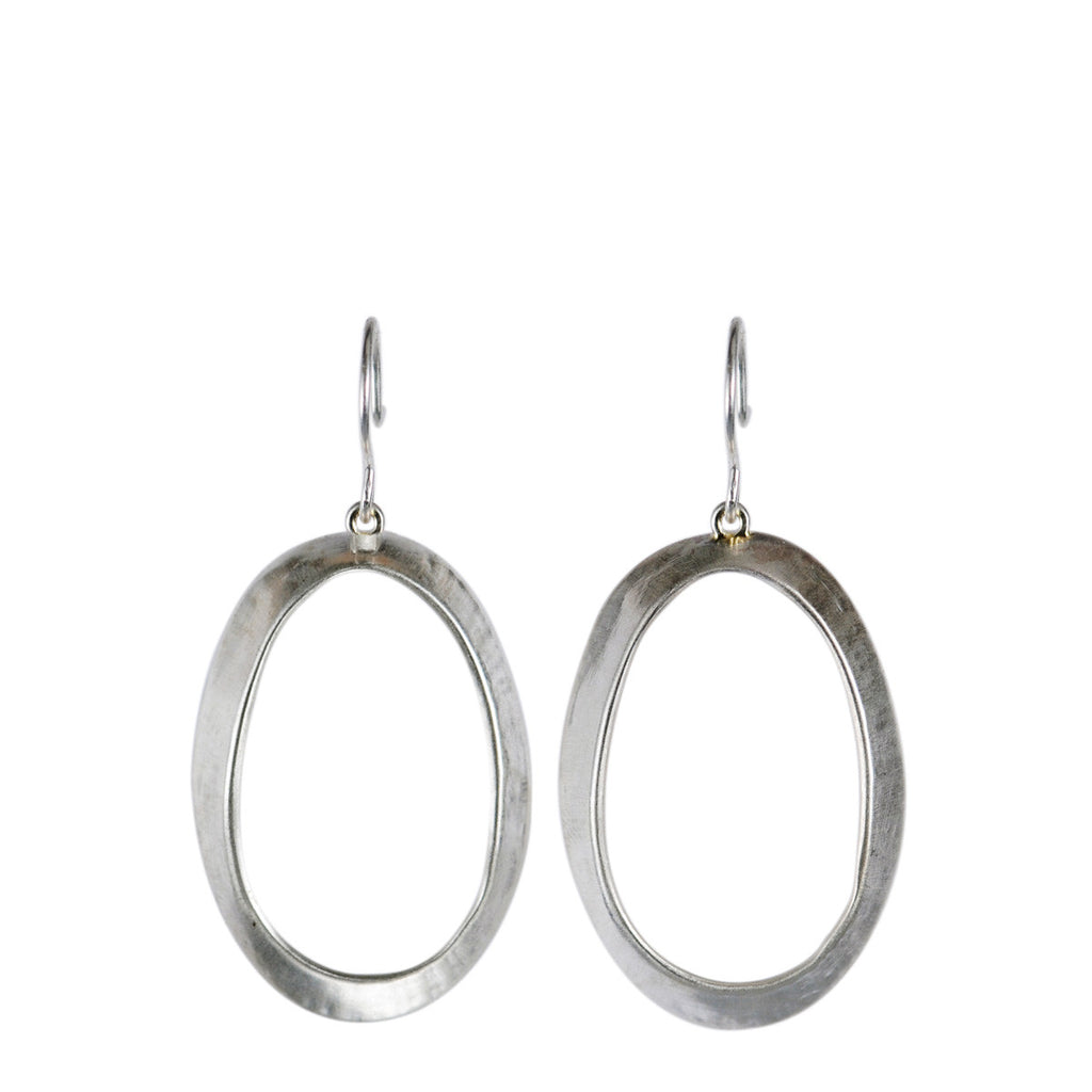 Sterling Silver Open Shell Earrings